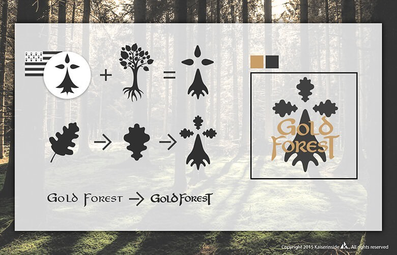 studies logo design graphisme Gold Forest