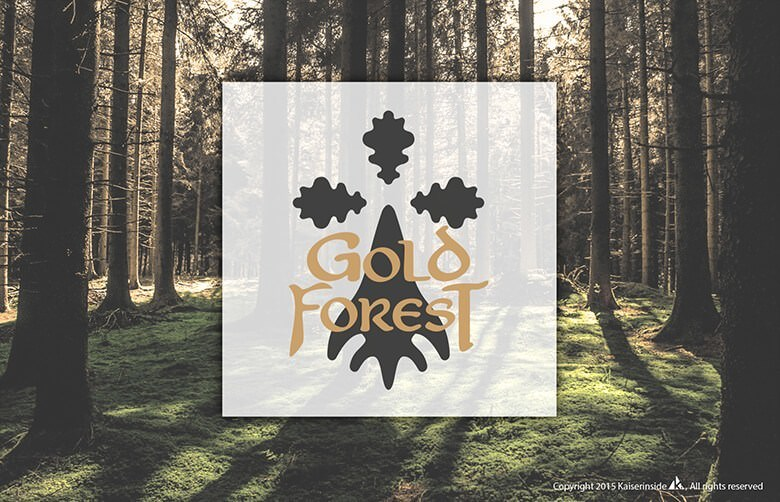 logo design graphisme Gold Forest