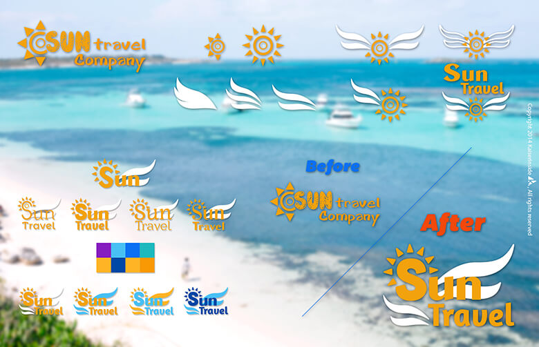 logo design Sun Travel