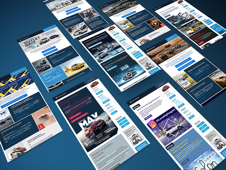 mockup newsletter design Peugeot