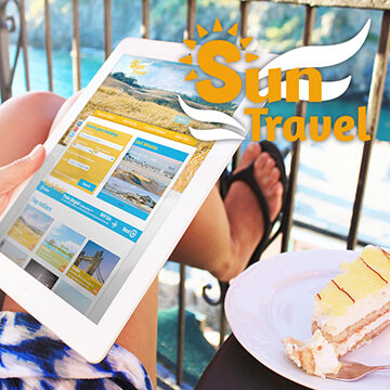 Webdesign site web logo design Sun Travel